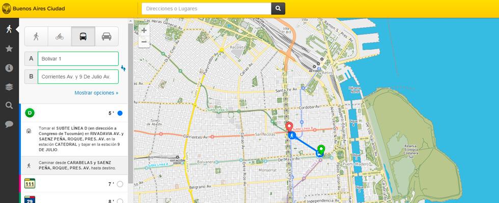 mapa interactivo c mo viajo desde y hasta sitio
