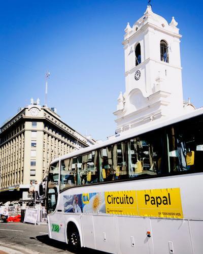Circuito Papal, en bus